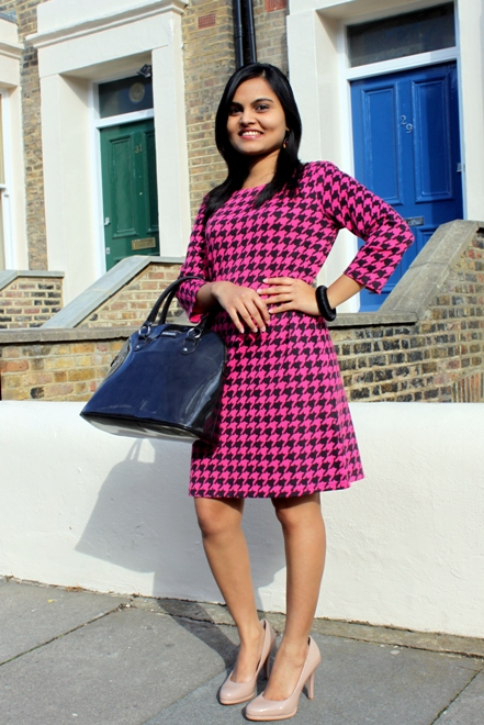 Houndstooth Print Dress 7