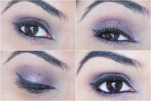 Jordana Eyeshadow Pencil in Vivid Lilies 15 - Look