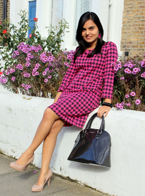 Outfit of the Day Houndstooth Print Dress