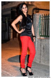 Outfit of the Day Perfect Red Pants and Black Heels