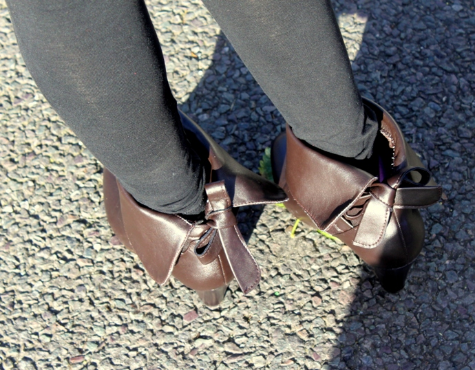 Brown Foldable Boots