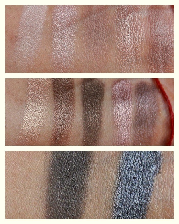 Urban decay-naked palette swatches