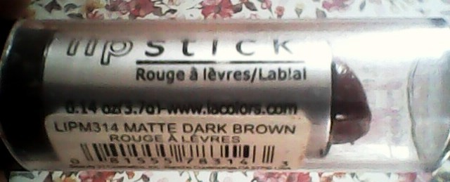 la colors matte dark brown lipstick