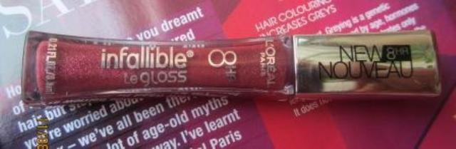 loreal infallible gloss glistening berry