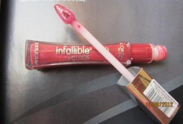 loreal infallible gloss glistening berry 1