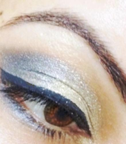 maybelline color tattoo bold gold eotd 2