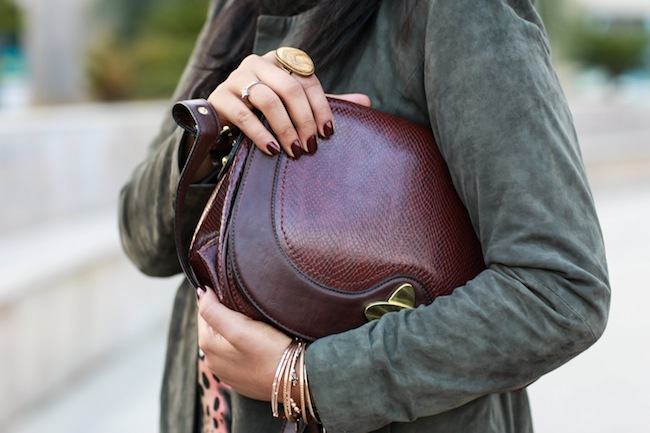nine west burgundy purse