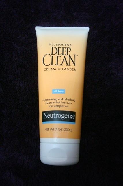 nuetrogena deep clean cream cleanser