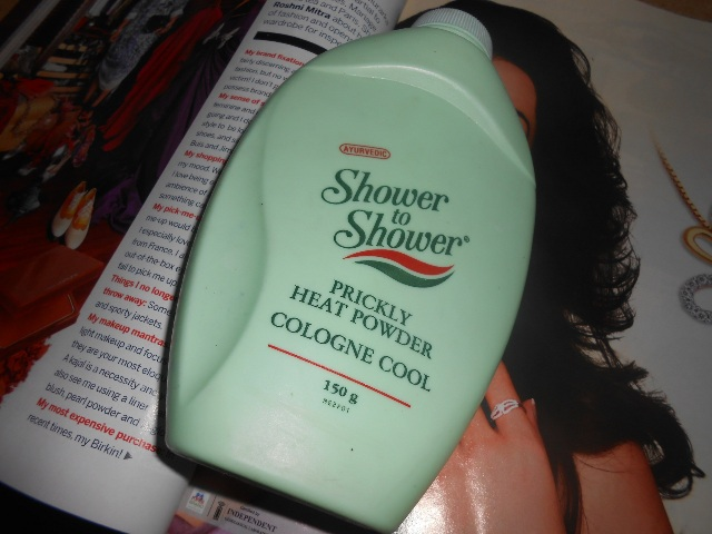 shower to shower prickly heat powder cologne cool
