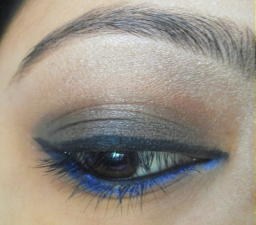 soft blue brown eye makeup