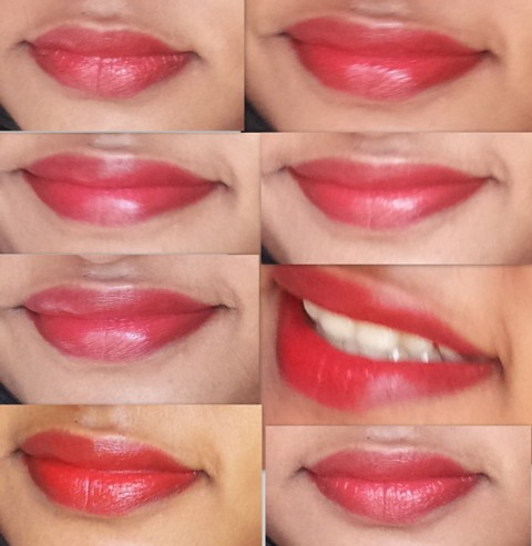 streetwear red rose lipstick lip swatches