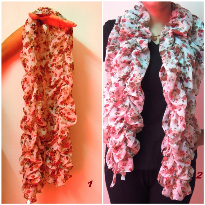 7 Ways To Wear Ruffle Scarf