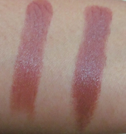 Coloressence lipstick nude brown swatches
