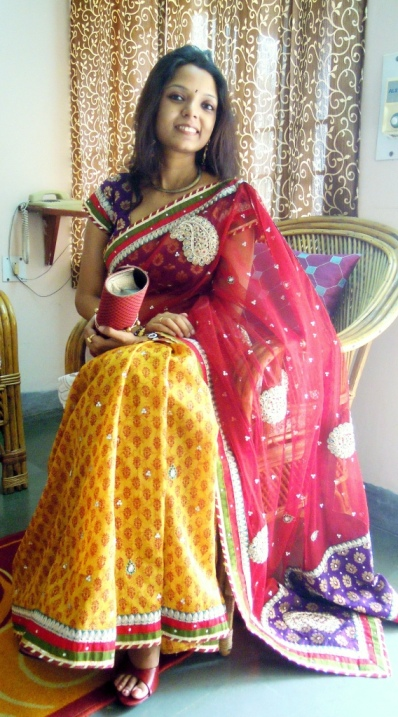 Designer Yellow Saree