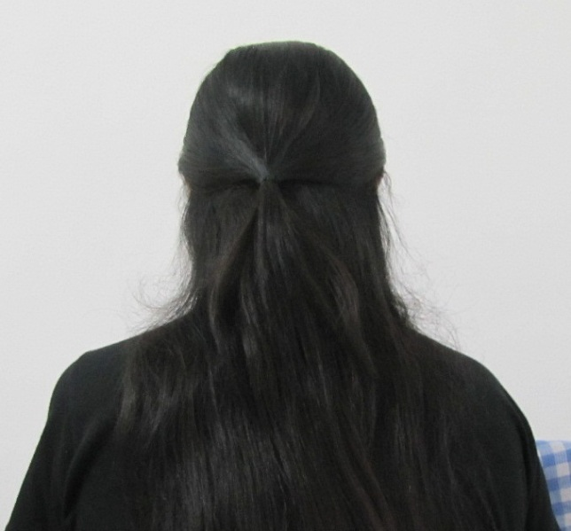 Easy College Office Hairstyle for Medium to Long Hair Step2