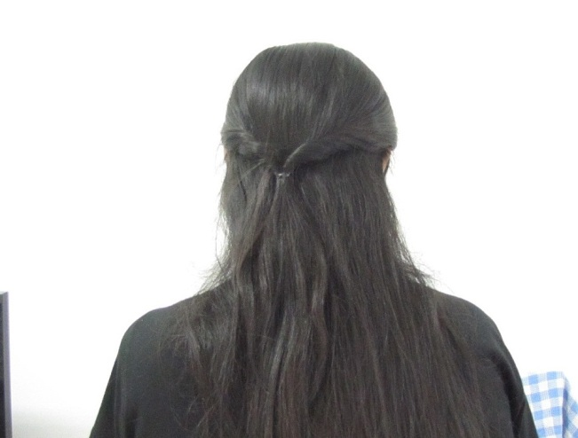 Easy College Office Hairstyle for Medium to Long Hair Step3