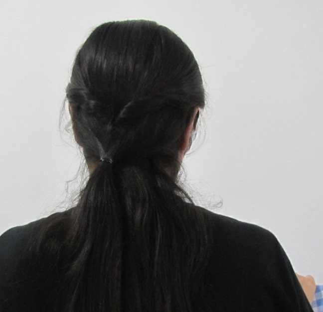 Easy College Office Hairstyle for Medium to Long Hair Step5