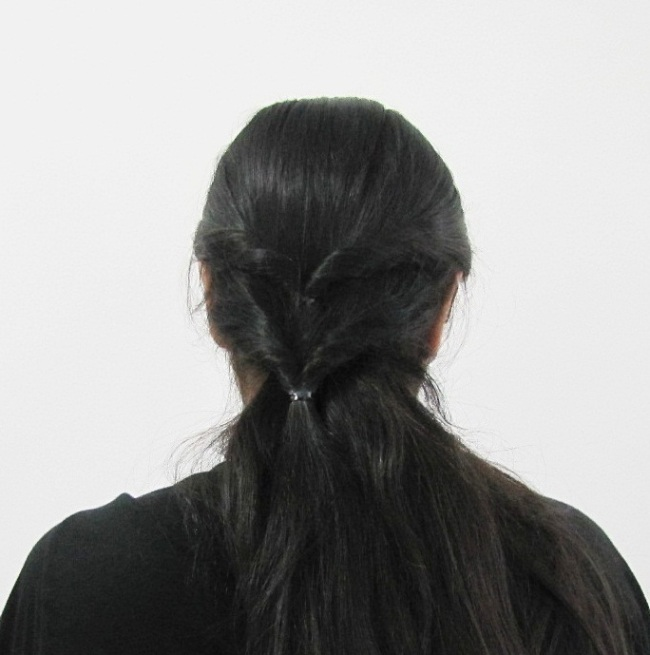 Easy College Office Hairstyle for Medium to Long Hair Step6