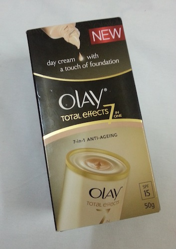 Olay Total effects day cream touch of foundation review