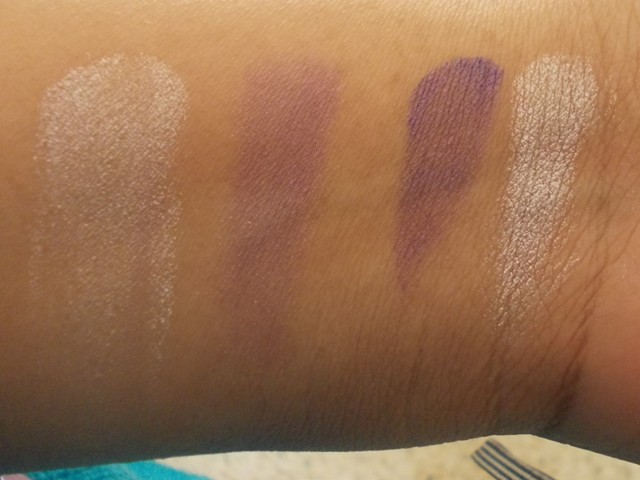 LAKME absolute baked shadows night desire swatches