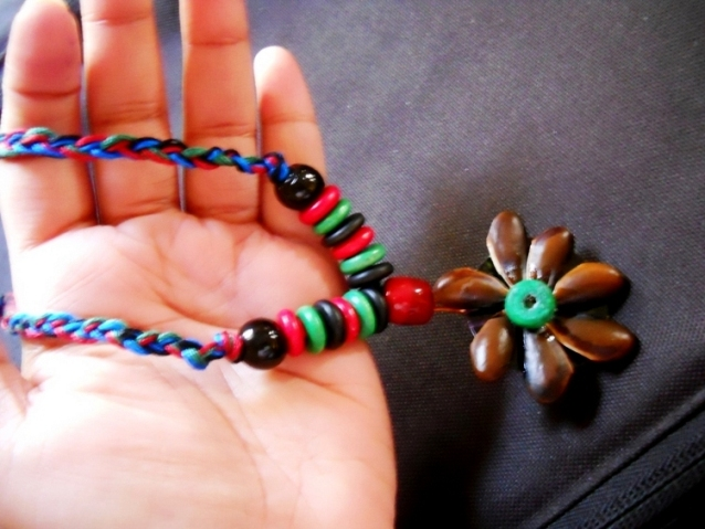 Make Funky Neck Piece with Seeds Do It Yourself