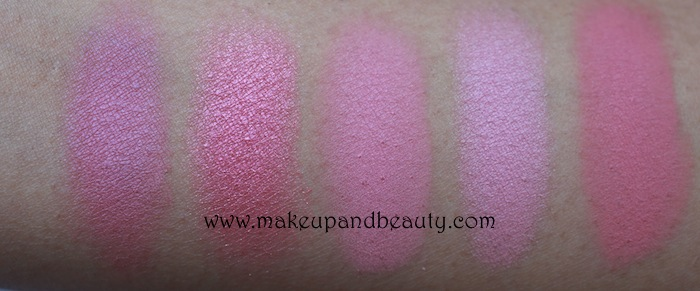 MAC Pink Blush Swatches