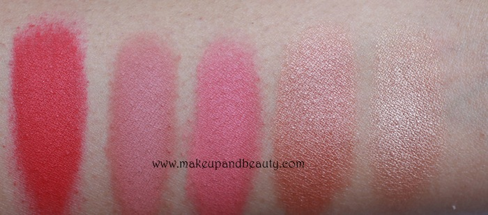 All MAC blush Swatches