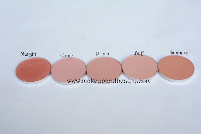 MAC Earthy Blush Swatches