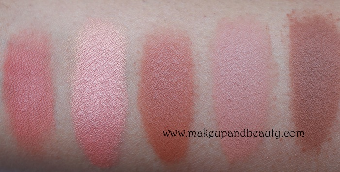 MAC peach Blush Swatches