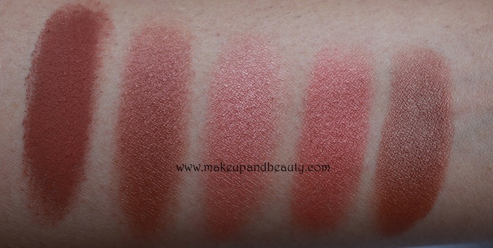 MAC brown Blush Swatches