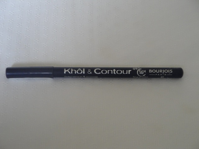 bourjois khol contour eyeliner pencil bleu graphique