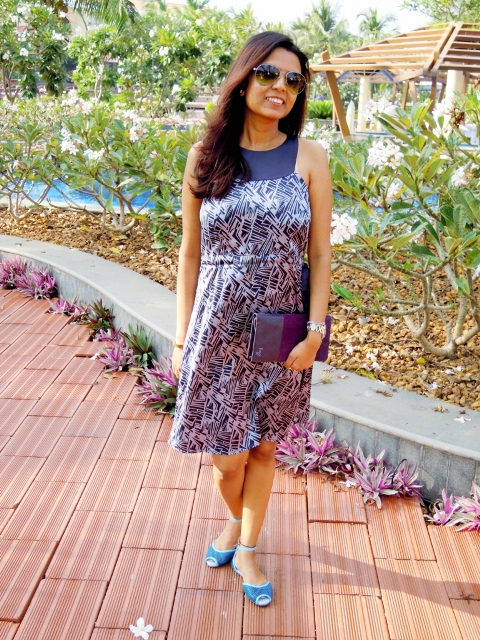 casual printed summer dress