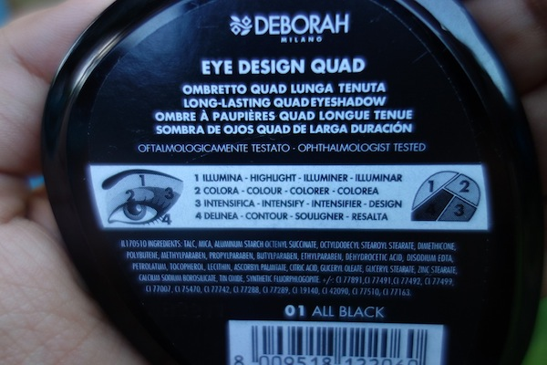 Deborah Milano Eyeshadow Quad All Black