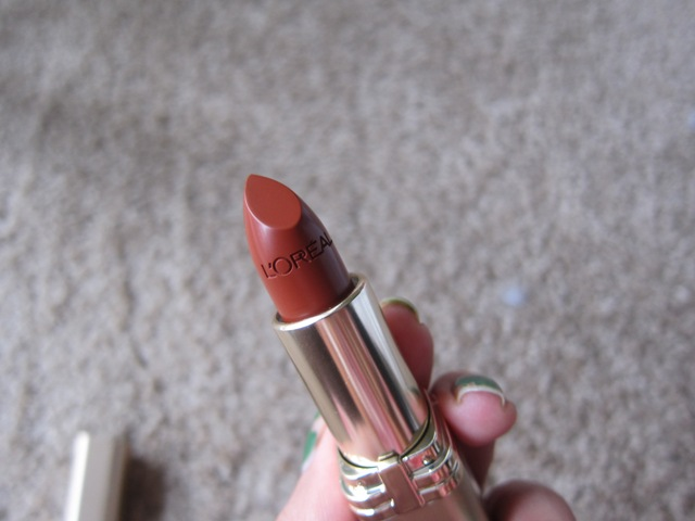loreal color rich lipstick cinnamon toast (6)