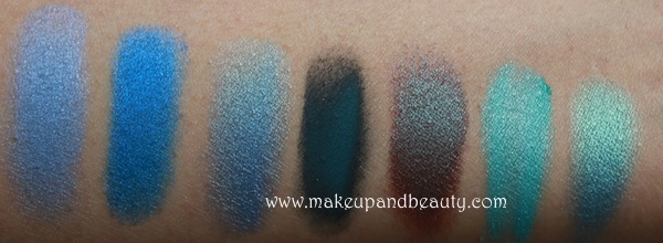 mac blue eyeshadow swatches