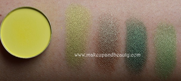 mac green eyeshadow swatches