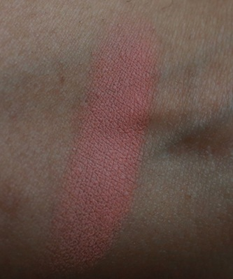 mac melba blush swatch