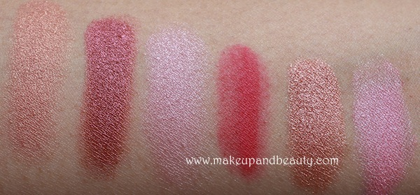 mac pink eyeshadows