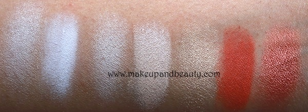 mac white eyeshadow swatches
