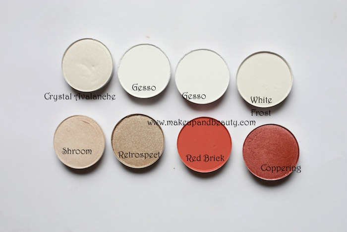 mac white eyeshadows