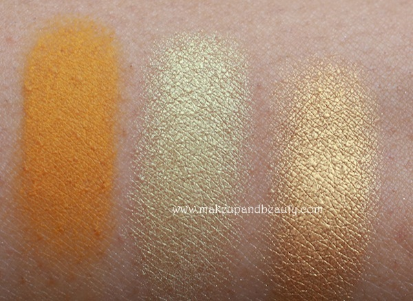 mac yellow eyeshadow swatches