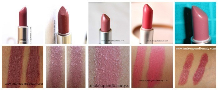 mac pink and brown lipsticks
