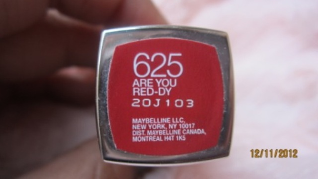 maybelline colorsensational are you red-dy lipstick (5)