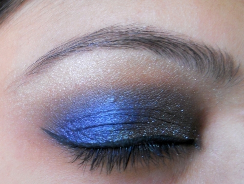 peacock blue colors eye makeup tutorial (10)