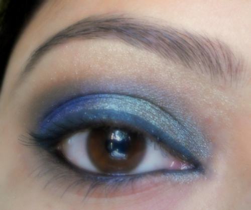 peacock blue colors eye makeup tutorial (11)