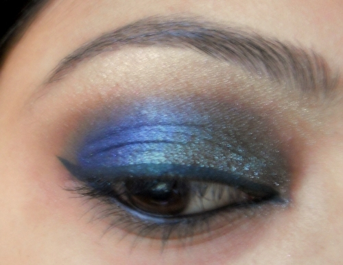 peacock blue colors eye makeup tutorial (12)
