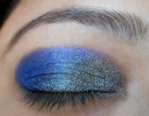 peacock blue colors eye makeup tutorial (7)