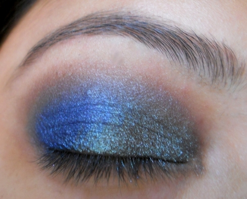 peacock blue colors eye makeup tutorial (8)