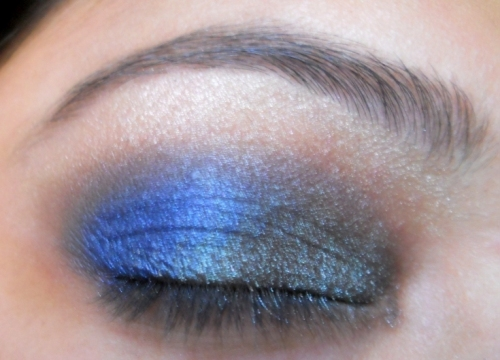 peacock blue colors eye makeup tutorial (9)
