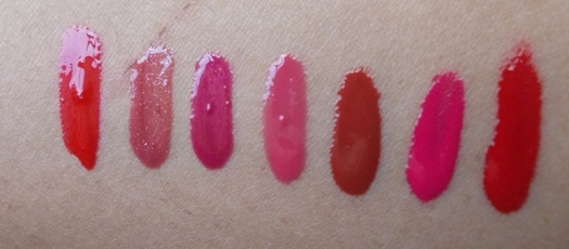 7 Favorite creamy lip glosses swatches
